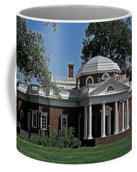 President Coffee Mug featuring the digital art Monticello by DigiArt Diaries by Vicky B Fuller