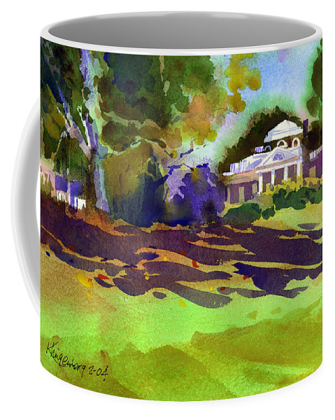 Thomas Jefferson Coffee Mug featuring the painting Monticello In October by Lee Klingenberg