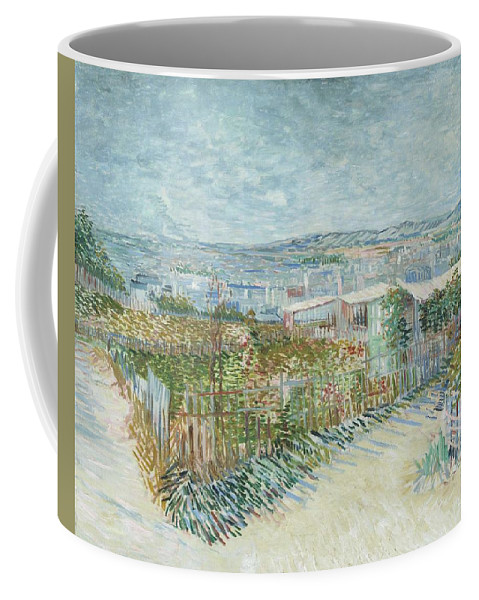 Art Coffee Mug featuring the painting Montmartre  Behind The Moulin De La Galette by Artistic Panda