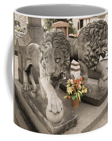 Cemetery Coffee Mug featuring the photograph Montparnasse Cemetery by Mick Burkey
