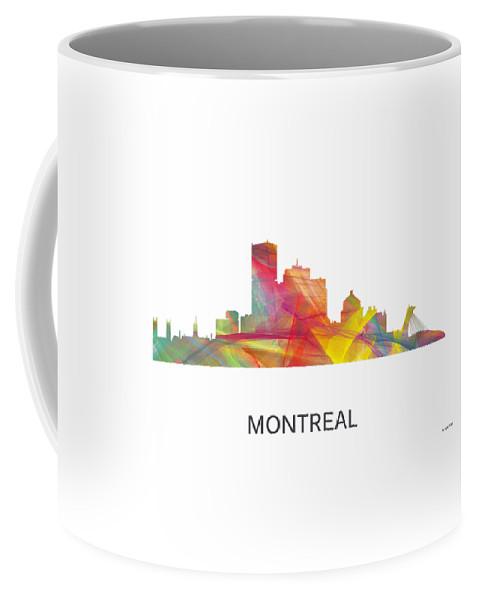 Montreal Que.skyline Coffee Mug featuring the digital art Montreal Que.skyline by Marlene Watson