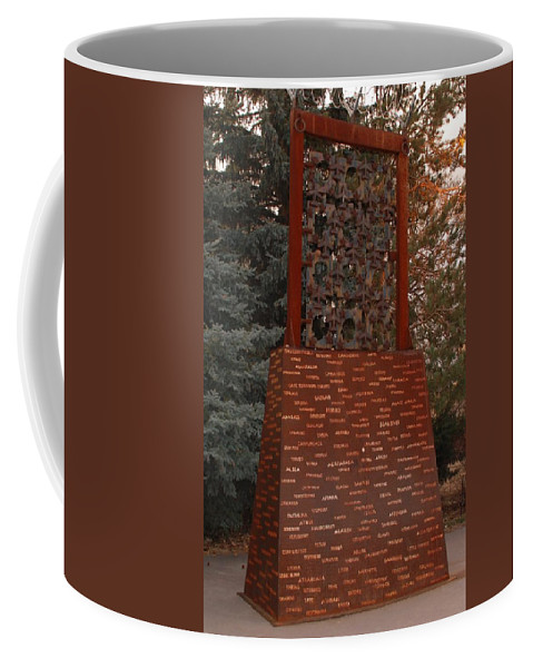 Monument Coffee Mug featuring the photograph Monument At N M State Captial by Rob Hans