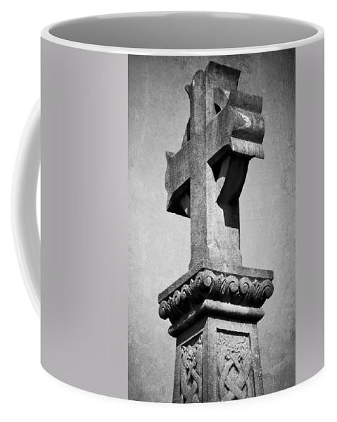 Irish Coffee Mug featuring the photograph Monument Cross Macroom Ireland by Teresa Mucha