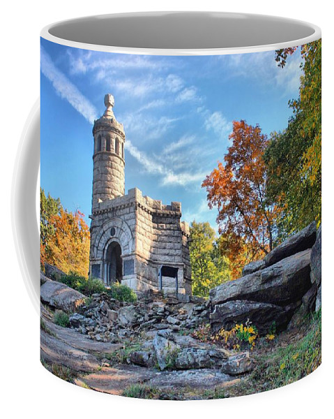 Gettysburg Coffee Mug featuring the photograph Monument To The 44th by DJ Florek