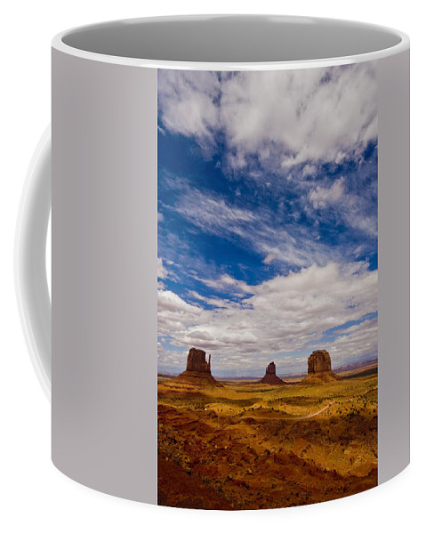 Landscape Coffee Mug featuring the photograph Monument Valley by Ches Black