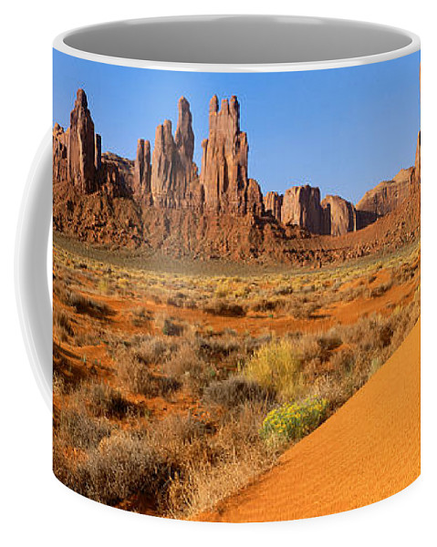 Photography Coffee Mug featuring the photograph Monument Valley,arizona by Panoramic Images