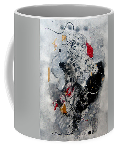 Abstract Coffee Mug featuring the painting Moods II by Ruth Palmer