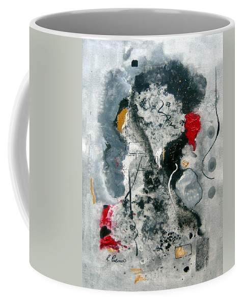 Abstract Coffee Mug featuring the painting Moods by Ruth Palmer