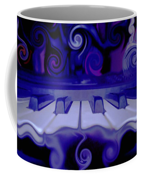 Music Coffee Mug featuring the photograph Moody Blues by Linda Sannuti