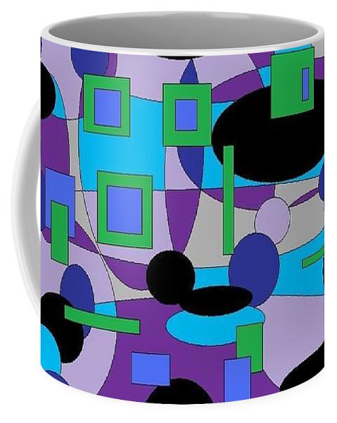Digital Abstract Coffee Mug featuring the digital art Moody Purple by Jordana Sands