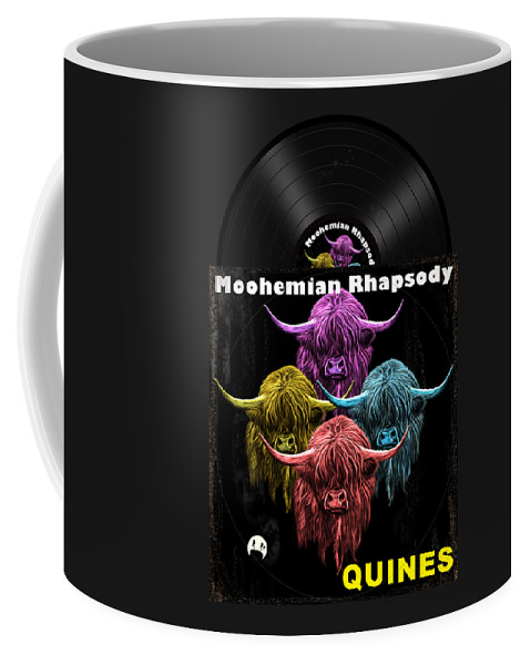 Scottish Coffee Mug featuring the digital art Moohemian Rhapsody by David Brodie