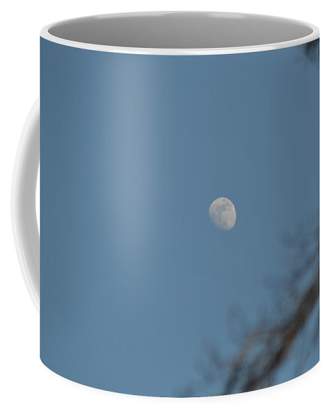 Plant Coffee Mug featuring the photograph Moon During The Day by Kate Scott