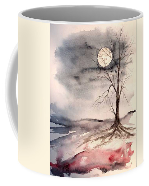 Moon Coffee Mug featuring the painting Moon Light by Derek Mccrea