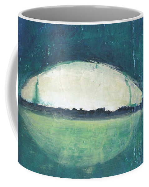 Moon Coffee Mug featuring the painting Moon Light by Vesna Antic