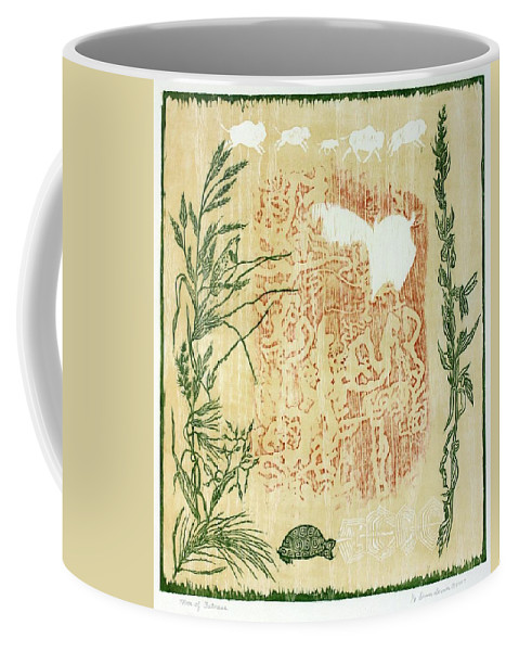 Nature Coffee Mug featuring the drawing Moon Of Fatness by Dawn Senior-Trask