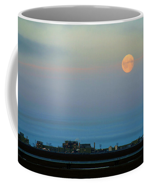 Landscape Coffee Mug featuring the photograph Moon Over Flow Station 1 by Anthony Jones