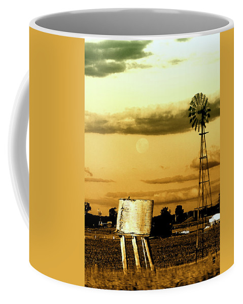 Landscape Coffee Mug featuring the photograph Moon Over Troubled Waters by Holly Kempe