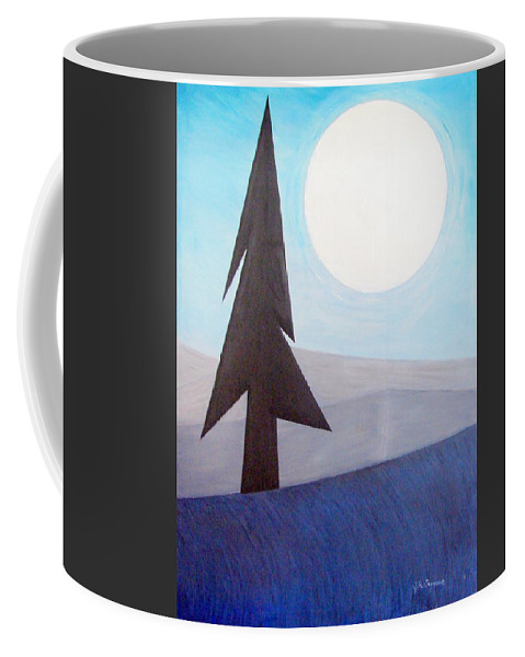 Impressionist Painting Coffee Mug featuring the painting Moon Rings by J R Seymour