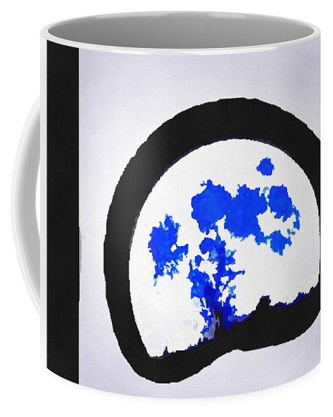 Moon Set Coffee Mug featuring the digital art Moon Set by Catherine Lott