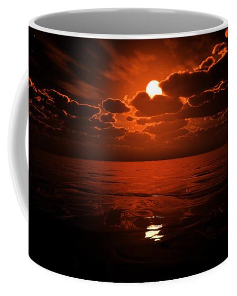Cloud Coffee Mug featuring the digital art Moon Water by Max Steinwald