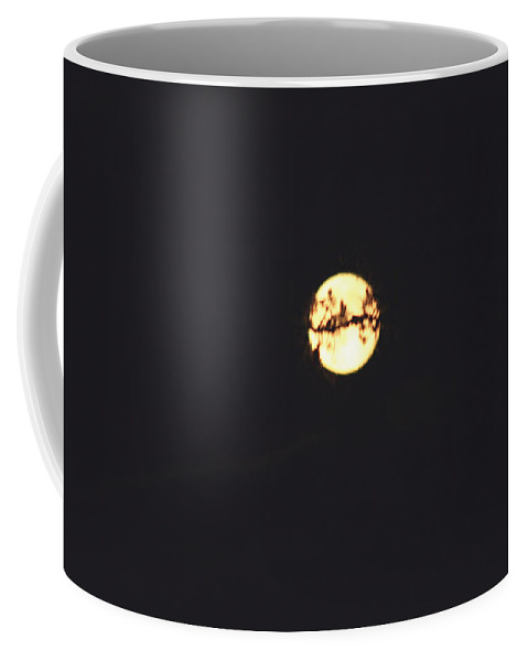 Moon Trees Night Dark Sky Branches Lonely Love Hug Coffee Mug featuring the photograph Moon Wrapped by Andrea Lawrence