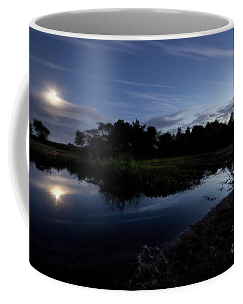Moonlight Coffee Mug featuring the photograph Moonlight by Angel Ciesniarska