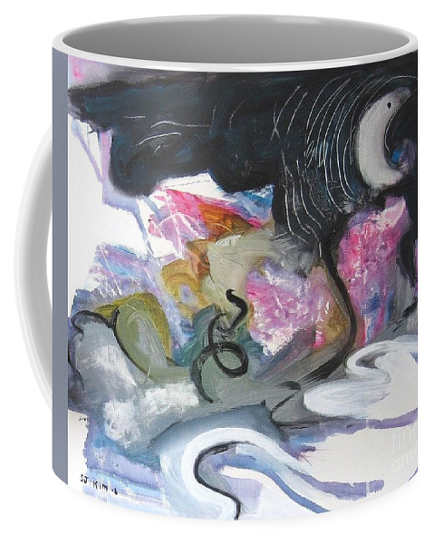 Abstract Paintings Coffee Mug featuring the painting Moonlight Fever by Seon-Jeong Kim