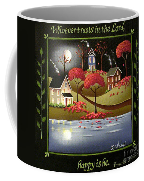 Art Coffee Mug featuring the painting Moonlight In Cottage Grove by Catherine Holman
