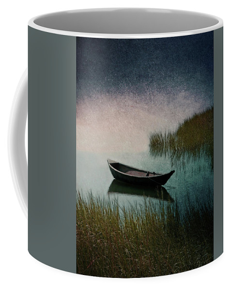Wooden Canoe Artwork Coffee Mug featuring the photograph Moonlight Paddle by Brooke T Ryan