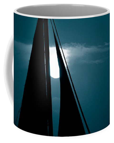Sails Coffee Mug featuring the photograph Moonlight Sail by Susanne Van Hulst