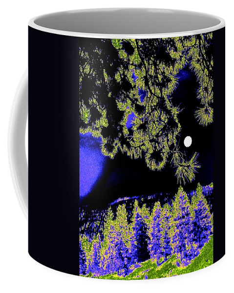Abstract Coffee Mug featuring the digital art Moonlit High Country by Will Borden