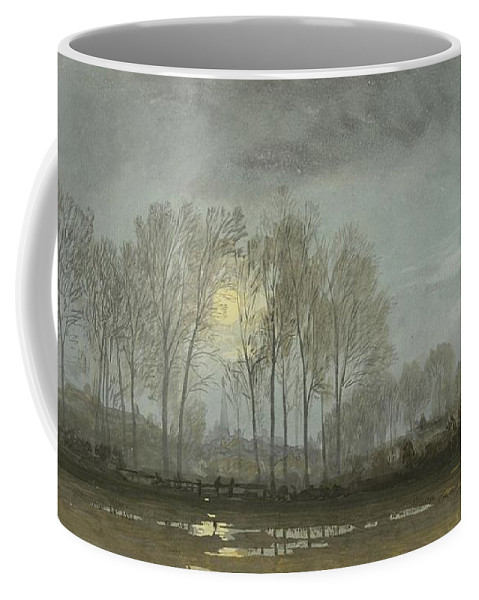 William Coffee Mug featuring the painting Moonlit Landscape by William Trost Richards