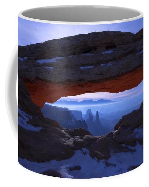 Moonlit Mesa Coffee Mug featuring the photograph Moonlit Mesa by Chad Dutson