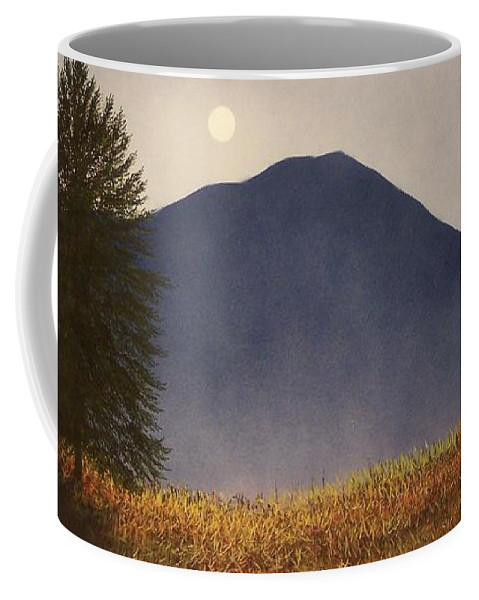 Mountains Coffee Mug featuring the painting Moonlit Mountain Meadow by Frank Wilson