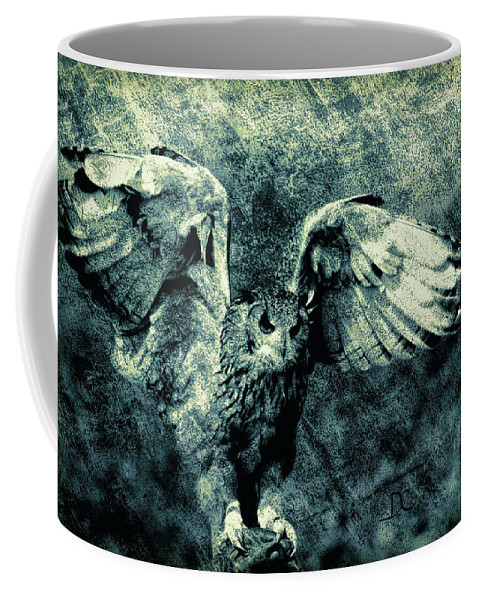 Owls Coffee Mug featuring the digital art Moonlit Owl by Diane Chandler