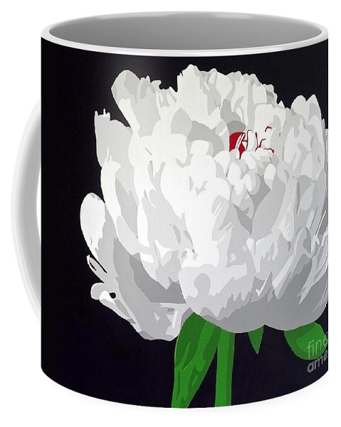 Peony Coffee Mug featuring the painting Moonlit Peony by Susan Porter