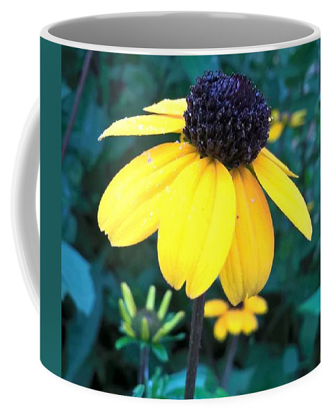 Yellow Coffee Mug featuring the photograph Moonlit Yellow by Jena Suits