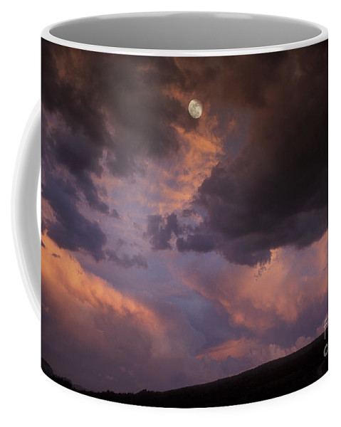 Capitol Reef National Park Coffee Mug featuring the photograph Moonrise And Sunset by Sandra Bronstein