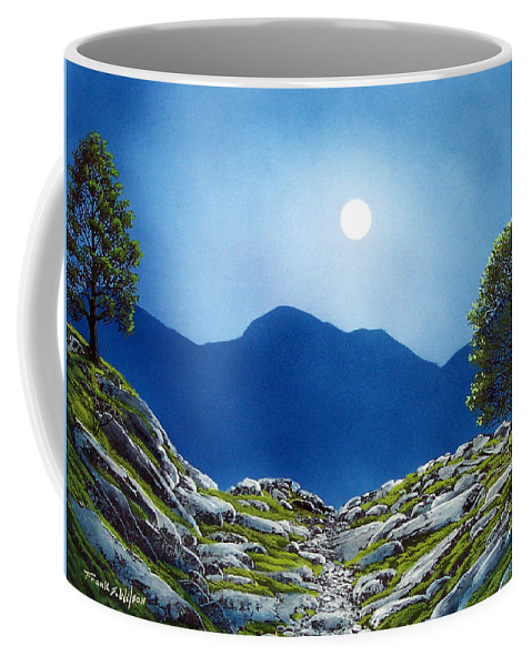Landscape Coffee Mug featuring the painting Moonrise by Frank Wilson