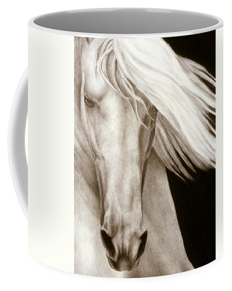 Horse Coffee Mug featuring the painting Moonrise by Pat Erickson
