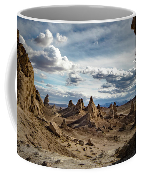 Pinnacles Coffee Mug featuring the photograph Moonscape Pinnacles by Peter Mangolds