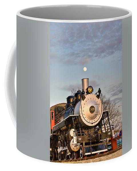 Moon Coffee Mug featuring the photograph Moonsmoke by Douglas Barnett