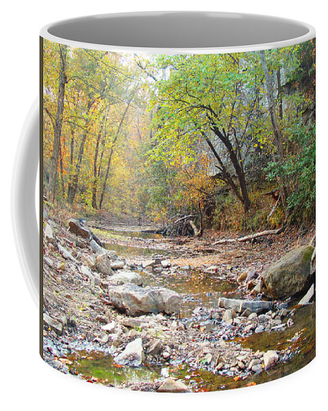 Moore\'s Creek Coffee Mug featuring the photograph Moore's Creek by Terry Anderson