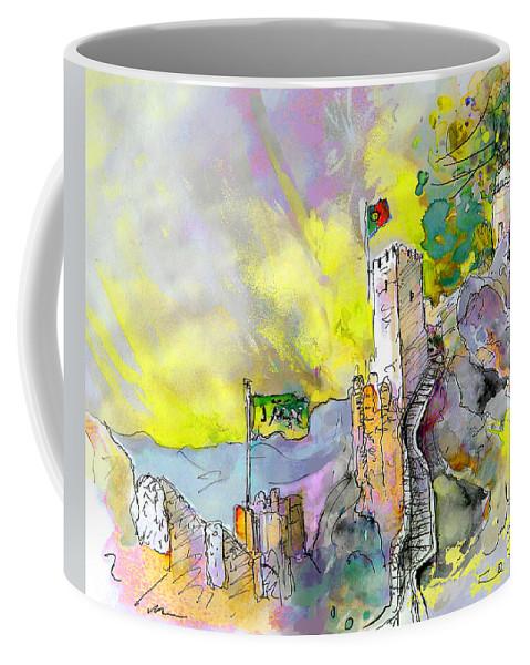 Coffee Mug featuring the painting Moorish Castle In Sintra 01 by Miki De Goodaboom