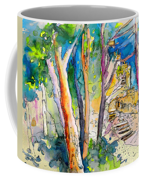 Sintra Coffee Mug featuring the painting Moorish Castle In Sintra 02 by Miki De Goodaboom