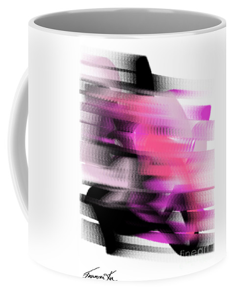 Abstract Coffee Mug featuring the painting Moped Rider by Frances Ku