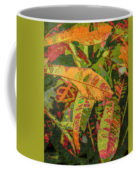 Botanical Coffee Mug featuring the digital art More Fern Abstraction by Janet Duffey