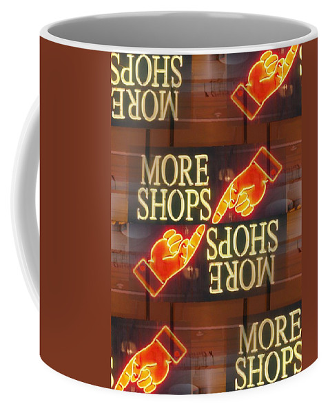 Seattle Coffee Mug featuring the digital art More Shops by Tim Allen