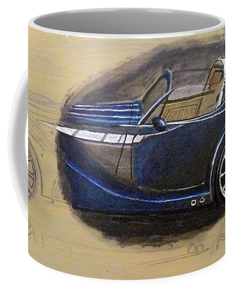 Cars Coffee Mug featuring the painting Morgan Aero by Richard Le Page