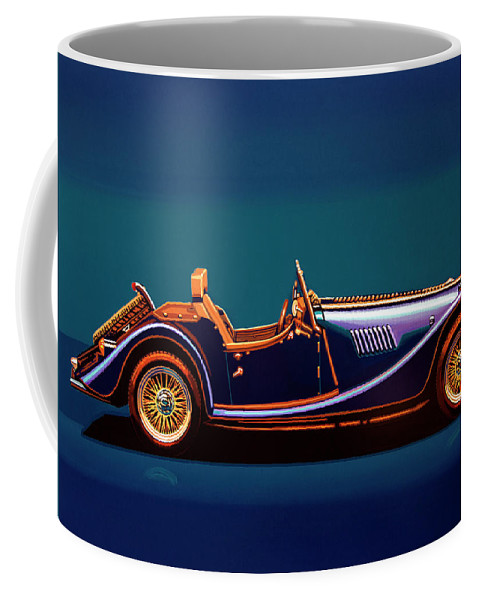 Morgan Roadster Coffee Mug featuring the painting Morgan Roadster 2004 Painting by Paul Meijering